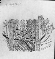"Tangle-Saxon Rune ""Haegl"""